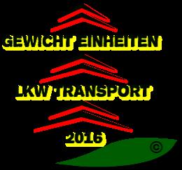 Beste LKW Auslastungen für Gewichteinheiten zum Schnittgrüntransport 2016