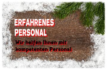 Weihnachtsbaum Verkauf mit Personal