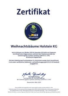 Zertifikat: Weihnachtsbäume für Wiederverkäufer